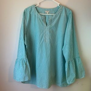 Talbots bell sleeved blouse